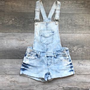 Blue spice Acid Wash overalls